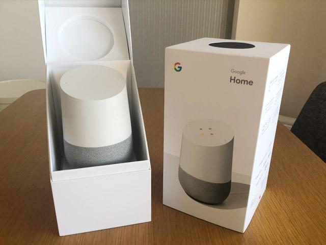 Google Homeの化粧箱